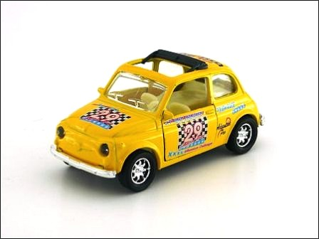 Auto Transport Racing on Fiat 500f Racing   Pullback   Wang Sing   28488   Die Cast   1 40